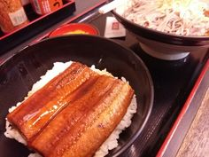 """SEN-NEN-SOBA is very good buckwheat chain. The important thing for buckwheat chain of them. """"cheap"""" """"fast"""" """"delicious"""" Buckwheat noodles in soup and Broiled eels """"kabayaki"""" bowl Combo $6.80 http://alike.jp/restaurant/target_top/672062/"""