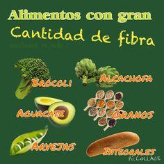Cuida tu salud, consume mucha fibra.