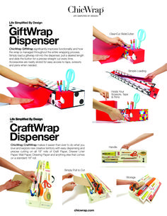 GiftWrap & CraftWrap simplified! On sale now at at chicwrap.com