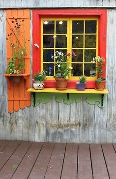 Such a dream window on a garden shed Inspiration for my detached garage. ;-)