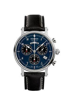 Zeppelin Watches 7577-3 - Reloj analógico de cuarzo para mujer con correa de piel, color marrón