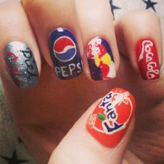 Advertising drinks brand nails
