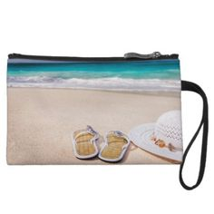 Life's A Beach Wristlet Wallet - girly gifts special unique gift idea custom