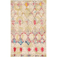 Terrell Tribal Ivory/Multi Area Rug