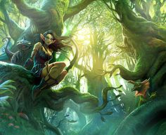 Forest elf by MiguelCoimbra.deviantart.com on @deviantART