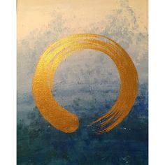 Ensō symbolizes a moment when the mind is free to simply let the body& spirit create.  My favorite new piece of art by my talented sister @sarahsmilesmiles  #enso#zen#artsyfartsy