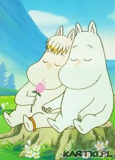 If I ever get a tattoo, a simple black line drawing of Snorkmaiden and Moomin would look amazing. Computer Kunst, Les Moomins, Moomin Valley, Tove Jansson, Aesthetic Anime, Fairy Tales, Illustration Art, Childhood, Artsy