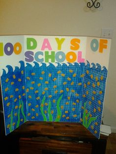 100 days of school project we made for my daughters class~