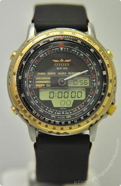 CITIZEN - JL6XX C080-088611 - Digi-Ana - Vintage Digital Watch - Digital-Watch.com