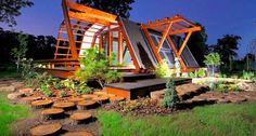 Uma casa ecológica e monitorada por smartphone