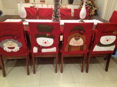 Image result for capas de cadeiras natalinas