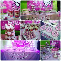 hello kitty birthay dessert table  check our IG @TIWI_IBUNYAFALIH contact: wa/line 085722057175