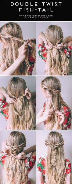 This double twist fishtail braid by the Barefoot Blonde is so stunning