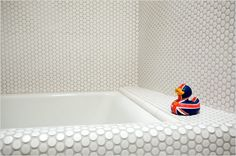Check out the DAL Penny Round Tile in Mosaic Tile, Tile & Countertop from Daltile Products for . Penny Round Tiles, Penny Tile, Dal Tile, White Mosaic Tiles, Mosaic Wall Tiles, Hexagon Tiles, Bathtub Tile, Mosaic Supplies, Tuile