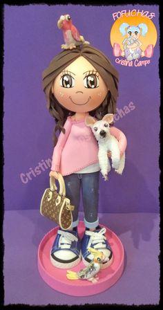 Cristina Camps Fofuchas: Fofucha con mascotas