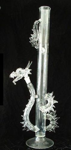 Amazing Glass Bongs   Hidden Tiger Toking Dragon Bong