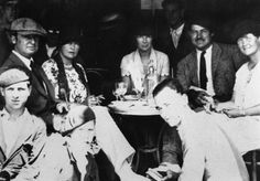 The Murphys with the Hemingways, with Pauline Pfieffer sitting between Sara and Ernest.  Hemingway soon left Hadley for Pauline.