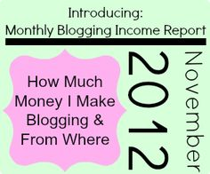 How and where to make #money on your blog and through social media. She shares how much she makes each month and from what companies. Great list of #affiliate sites!