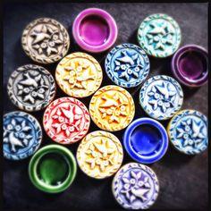 Antique Bird Shadowbox beads by Round Rabbit