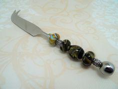 Besteck - Steakmesser mit Glasperlengriff !Lampwork! - ein Designerstück von…