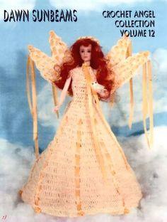 143. Barbie fashion doll dress-crochet pattern in pdf, Barbie Angel pattern in pdf by Vandihand on Etsy