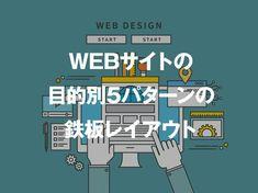 Webサイトの目的別5パターンの鉄板レイアウト Web Layout, Layout Design, Design Art, Web Ui Design, Logo Design, What Is Design, Grid System, Web Inspiration, Design Reference