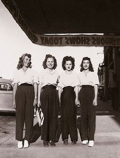 1940's ~ Looks like some kind of uniforms! But likely not ~ they just got their…