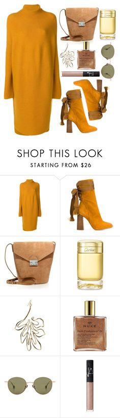 """""""🦁"""" by fashioneex ❤ liked on Polyvore featuring Christian Wijnants, Chloé, Loeffler Randall, Cartier, Rosie Assoulin, Nuxe, Ahlem and NARS Cosmetics"""