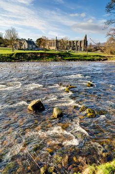 Bolton Abbey, Yorkshire: river and abbey