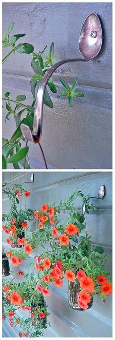 Simple DIY Planter Hangers | World In Green LOVE this! - Mason Jars from Wedding & Also Green House Organization Idea