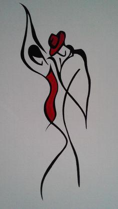 Art Drawings Sketches, Easy Drawings, Silhouette Art, Dance Art, Minimalist Art, Doodle Art, Art Lessons, Amazing Art, Fashion Art