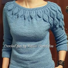 How to Crochet a Bodycon Dress/Top Crochet Jumper, Crochet Coat, Crochet Jacket, Crochet Cardigan, Crochet Clothes, Bikini Crochet, Knitting Patterns, Crochet Patterns, Beautiful Crochet