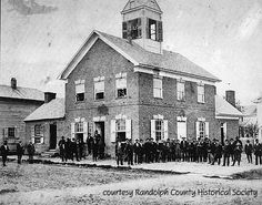 RANDOLPH CO. The courthouse was constructed before Thomas Jefferson's rejection of British colonial architecture and his promotion of classical symbolism could influence building styles in rural western Virginia.