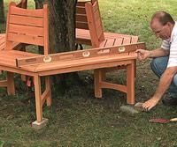 Building a tree bench   Living the Country Life