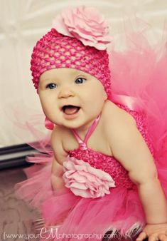 Layla Grace Hot Pink Silk French Rose Baby Crochet Hat; maybe little Gracie would like to go dancing with Jackson?