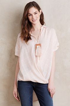 Wrapped Plaid Buttondown #anthropologie