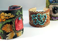 Upcycled Bedouin Fabric Cuffs by Robin Stelling
