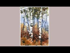 Advancing with Watercolor: Repeated Shapes, Birches - YouTube
