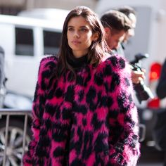 Sara Sampaio attends the Marc Jacobs Fall '17 Show.