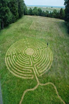 Jesuit Centre of Spirituality, Dublin - Labyrinth Labyrinth Garden, Labyrinth Maze, Amazing Maze, Labrynth, The Minotaur, Medicine Wheel, Crop Circles, Ancient Symbols, Prehistoric