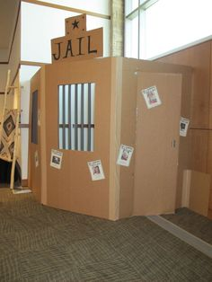 Fake Jail Cell Prop for Pictures | Fall carnival, Western ...
