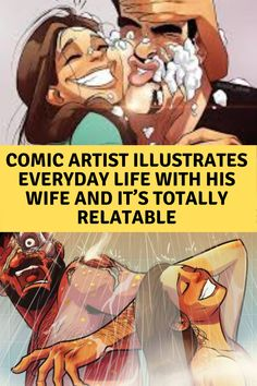 Comic Artist Illustrates Everyday Life With His Wife And It's Totally Relatable Bun Hairstyles For Long Hair, Black Hairstyles, Curly Hairstyle, Worst Day, Marriage Life, Cool Pins, Funny Facts, Funny Memes, Funny Pins