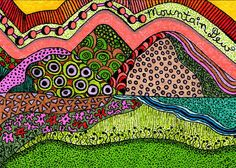 ACEO Original Mixed Media  Zentangle by DragonflyMoonGallery