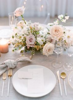 Timeless and Ethereal Wedding Inspiration at The Walper Hotel. Beautiful, modern and elegant wedding table place settin gin tonies of blush, peach, mauve Ethereal Wedding, Elegant Wedding, Floral Wedding, Rustic Wedding, Wedding Flowers, Timeless Wedding, Church Wedding, Hotel Wedding, Parisian Wedding