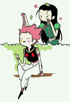 Hisoka and Illumi Adventure time style Hisoka, Killua, Hunter X Hunter, Hunter Anime, Monster Hunter, Tsundere, Anime Guys, Manga Anime, Manga Girl