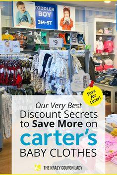 Prepping for a new baby or shopping for a baby shower? Have a toddler that's running through clothes faster than you can buy them? Carter's is the answer! Finding Carter's sales isn't too hard and the deals are frequent and glorious, so you should never have to pay full price for baby clothes. The Krazy Coupon Lady gets you bodysuits for $2 or less and blanket sleepers for under $8. Learn when to shop for Carter's, and also which stores offer the best (lowest or most frequent) deals. Carters Store, Get Carter, Carters Baby Clothes, Finding Carter, Birthday Freebies, Blanket Sleeper, Coupon Lady, Parenting Hacks, Bodysuits
