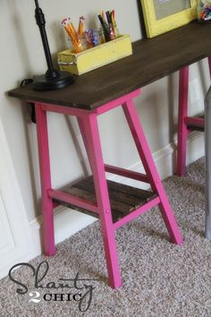 Turn some old barstools into a great desk.