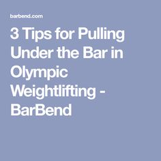 Having trouble getting under the bar on snatches and cleans? These tips will help you get more out of your positions and lifts! Olympic Weightlifting, Weight Lifting, Crossfit, Olympics, Positivity, Bar, Tips, Weightlifting, Advice