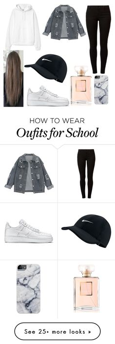 """""""School Look"""" by dounia-bts-swag on Polyvore featuring NIKE and Dorothy Perkins"""
