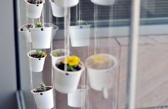 Make tiny hanging planters. | 33 Genius Ways To Reuse Your K-Cups